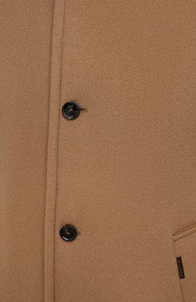 Мужской пальто из шерсти и кашемира bond-fur-le MOORER бежевого цвета, арт. B0ND-FUR-LE/M0UG2100131-TEPA209   Фото 5 (Материал внешний: Шерсть; Рукава: Длинные; Длина (верхняя одежда): До середины бедра; Материал подклада: Синтетический материал; Мужское Кросс-КТ: пальто-верхняя одежда; Материал утеплителя: Пух и перо; Стили: Кэжуэл)