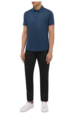 Мужское льняное поло ORLEBAR BROWN темно-синего цвета, арт. 273712 | Фото 2