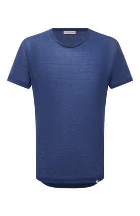 Мужская льняная футболка ORLEBAR BROWN синего цвета, арт. 274190 | Фото 1