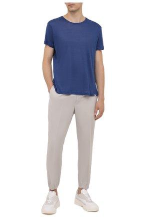 Мужская льняная футболка ORLEBAR BROWN синего цвета, арт. 274190 | Фото 2
