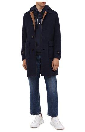 Мужской двустороннее пальто ELEVENTY PLATINUM темно-синего цвета, арт. D75CAPD16 TES0D054   Фото 2