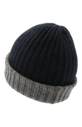 Мужская кашемировая шапка FEDELI темно-синего цвета, арт. 4UI07305   Фото 2