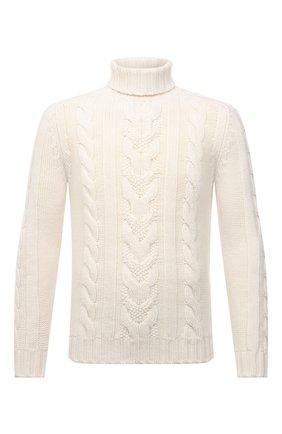 Мужской свитер из шерсти и кашемира FEDELI кремвого цвета, арт. 4UI08148 | Фото 1