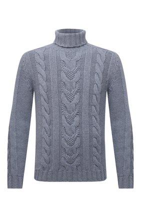 Мужской свитер из шерсти и кашемира FEDELI серо-голубого цвета, арт. 4UI08148 | Фото 1