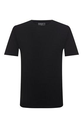 Мужская хлопковая футболка FEDELI черного цвета, арт. 4UIF0113 | Фото 1