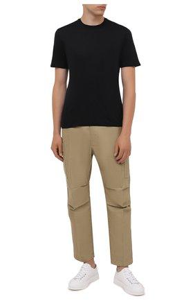 Мужская хлопковая футболка FEDELI черного цвета, арт. 4UIF0113 | Фото 2