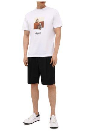 Мужская хлопковая футболка palm angels x missoni PALM ANGELS белого цвета, арт. PMAA001F21JER0310110/W   Фото 2 (Материал внешний: Хлопок; Рукава: Короткие; Длина (для топов): Стандартные; Принт: С принтом; Стили: Гранж)