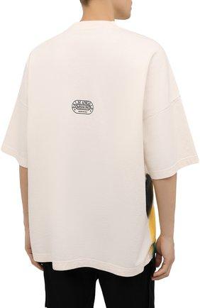 Мужская хлопковая футболка palm angels x missoni PALM ANGELS кремвого цвета, арт. PMAA041F21JER0060310 | Фото 4 (Рукава: Короткие; Длина (для топов): Стандартные; Стили: Гранж; Принт: С принтом; Материал внешний: Хлопок)