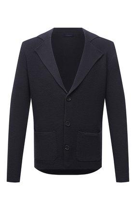 Мужской шерстяной пиджак DANIELE FIESOLI темно-серого цвета, арт. DF 0114 | Фото 1