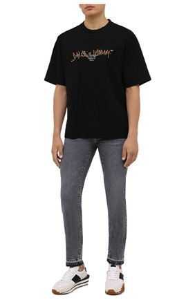 Мужская хлопковая футболка DOLCE & GABBANA черного цвета, арт. G8NB6Z/HU7IH | Фото 2