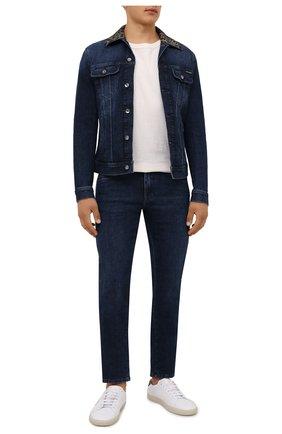Мужские джинсы DOLCE & GABBANA синего цвета, арт. GY07CD/G8EI2   Фото 2