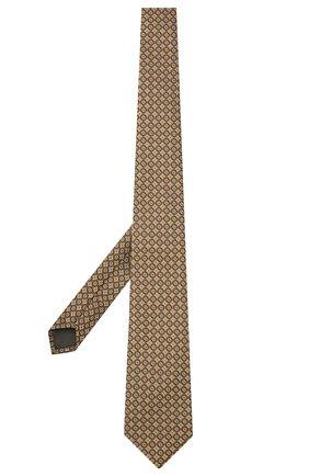 Мужской шелковый галстук CANALI желтого цвета, арт. 18/HJ03291   Фото 2 (Материал: Шелк, Текстиль; Принт: С принтом)