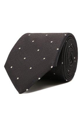 Мужской шелковый галстук CANALI коричневого цвета, арт. 18/HJ03327   Фото 1 (Материал: Текстиль, Шелк; Принт: С принтом)