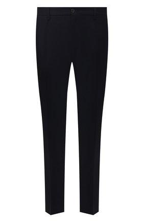 Мужские шерстяные брюки CANALI синего цвета, арт. 91666/PR00825   Фото 1 (Материал внешний: Шерсть; Материал подклада: Вискоза; Случай: Формальный; Стили: Классический; Длина (брюки, джинсы): Стандартные)