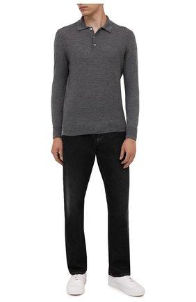 Мужское шерстяное поло CANALI темно-серого цвета, арт. C0822/MK01260 | Фото 2