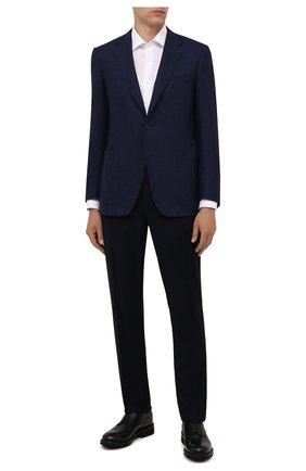 Мужская хлопковая сорочка CANALI белого цвета, арт. XX05/GX02022 | Фото 2 (Рукава: Длинные; Материал внешний: Хлопок; Длина (для топов): Стандартные; Случай: Формальный; Стили: Классический; Рубашки М: Regular Fit; Манжеты: На пуговицах; Воротник: Акула; Принт: Однотонные)