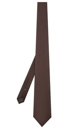 Мужской шелковый галстук CANALI коричневого цвета, арт. 18/HJ03284   Фото 2 (Материал: Шелк, Текстиль; Принт: С принтом)