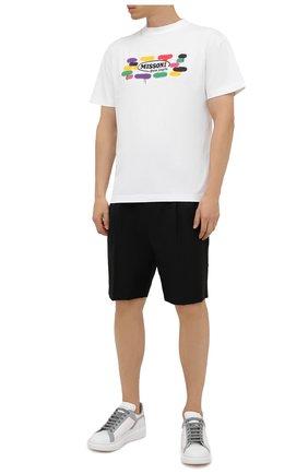 Мужские кожаные кеды ALEXANDER MCQUEEN белого цвета, арт. 662651/WIA4H | Фото 2