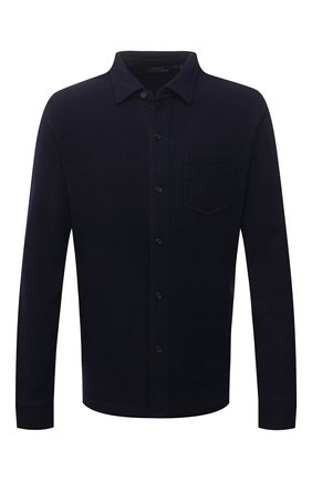 Мужская шерстяная рубашка POLO RALPH LAUREN темно-синего цвета, арт. 710813226   Фото 1