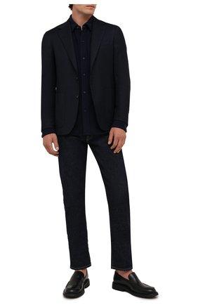 Мужская шерстяная рубашка POLO RALPH LAUREN темно-синего цвета, арт. 710813226   Фото 2