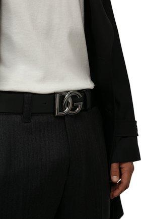 Мужской кожаный ремень DOLCE & GABBANA черного цвета, арт. BC4646/AX622 | Фото 2 (Случай: Повседневный)
