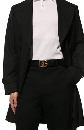 Мужской кожаный ремень DOLCE & GABBANA черного цвета, арт. BC4644/AX622 | Фото 2 (Случай: Повседневный)