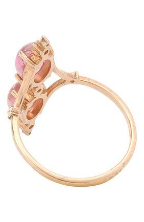 Женское кольцо с розовым турмалином и топазами MOONKA розового цвета, арт. ai-vr-p   Фото 2 (Материал: Серебро)