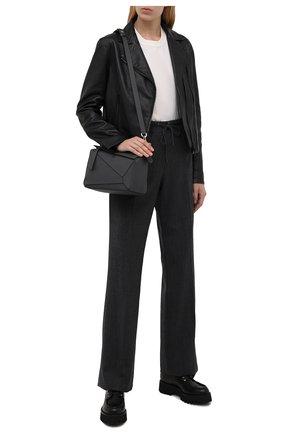 Женская кожаные дерби CASADEI черного цвета, арт. 1C185R0401C15179000   Фото 2