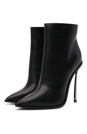Женские кожаные ботильоны CASADEI черного цвета, арт. 1Q039R120MC08539000   Фото 1