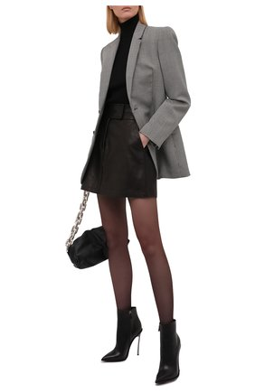 Женские кожаные ботильоны CASADEI черного цвета, арт. 1Q039R120MC08539000   Фото 2