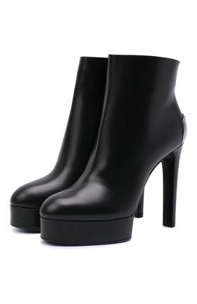 Женские кожаные ботильоны CASADEI черного цвета, арт. 1Q115T1201C14709000   Фото 1