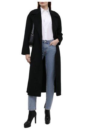 Женские кожаные ботильоны CASADEI черного цвета, арт. 1Q115T1201C14709000   Фото 2