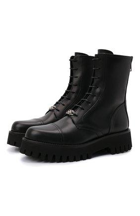 Женские кожаные ботинки CASADEI черного цвета, арт. 1R269T0401C15159000   Фото 1