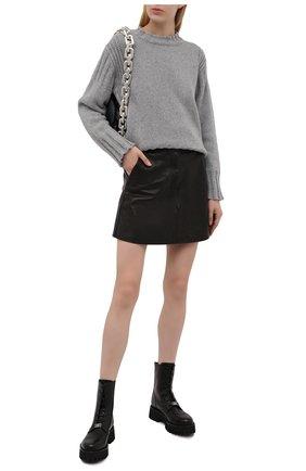 Женские кожаные ботинки CASADEI черного цвета, арт. 1R269T0401C15159000   Фото 2