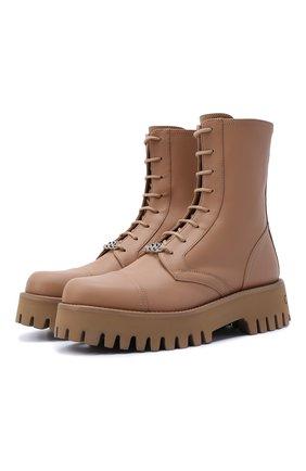 Женские кожаные ботинки CASADEI бежевого цвета, арт. 1R269T0401C15633113   Фото 1
