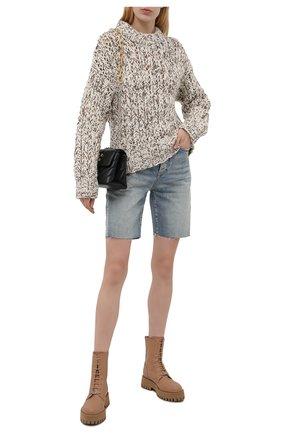 Женские кожаные ботинки CASADEI бежевого цвета, арт. 1R269T0401C15633113   Фото 2