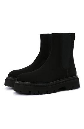 Женские замшевые ботинки CASADEI черного цвета, арт. 1R279T0401C15789000   Фото 1