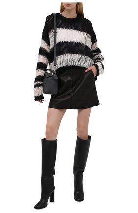 Женские кожаные сапоги CASADEI черного цвета, арт. 1S163T1001C14919000   Фото 2