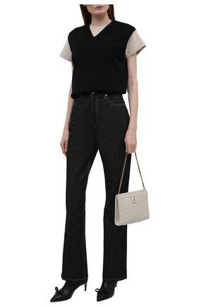 Женские кожаные ботильоны REDVALENTINO черного цвета, арт. WQ2S0E42/TPB | Фото 2 (Материал внутренний: Натуральная кожа; Каблук тип: Шпилька; Подошва: Плоская; Каблук высота: Средний)