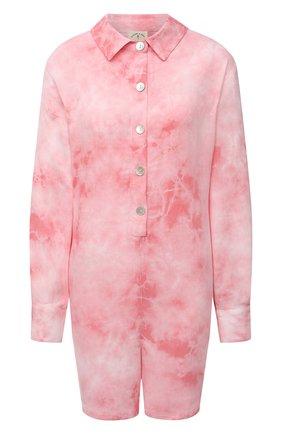 Женский комбинезон из вискозы ELECTRIC&ROSE розового цвета, арт. LFJP10-BL00M | Фото 1