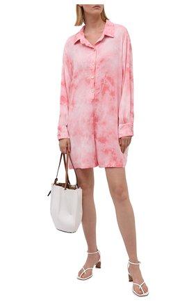 Женский комбинезон из вискозы ELECTRIC&ROSE розового цвета, арт. LFJP10-BL00M | Фото 2