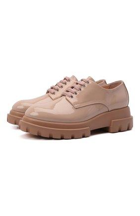 Женская кожаные туфли AGL бежевого цвета, арт. D756002PGKA001D288   Фото 1