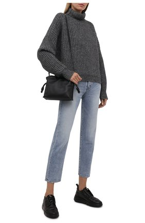 Женские кожаные кроссовки venus AGL черного цвета, арт. D938012PGKA0761013   Фото 2