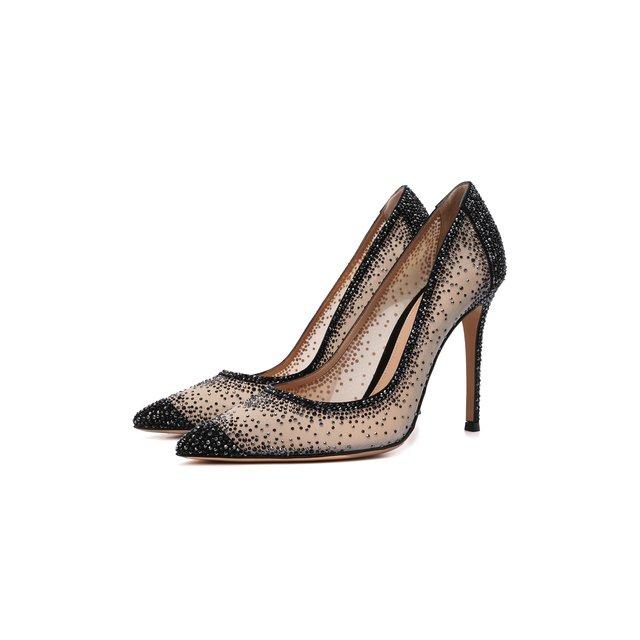 Комбинированные туфли Rania Gianvito Rossi
