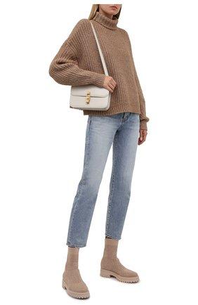 Женские текстильные ботинки GIANVITO ROSSI бежевого цвета, арт. G73349.20G0M.KIBNUDE | Фото 2
