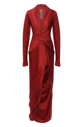 Женское платье RICK OWENS красного цвета, арт. RP02A7572/0   Фото 1