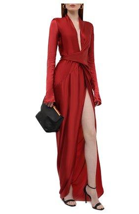 Женское платье RICK OWENS красного цвета, арт. RP02A7572/0   Фото 2