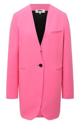 Женский жакет MM6 розового цвета, арт. S52BN0087/S53962   Фото 1