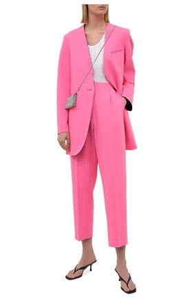 Женский жакет MM6 розового цвета, арт. S52BN0087/S53962   Фото 2