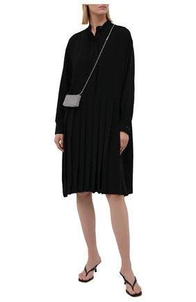 Женское платье MM6 черного цвета, арт. S52CT0645/S43455   Фото 2